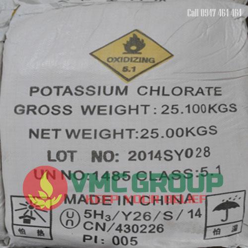 KCLO3 Kali clorat bao 25kg trung quoc
