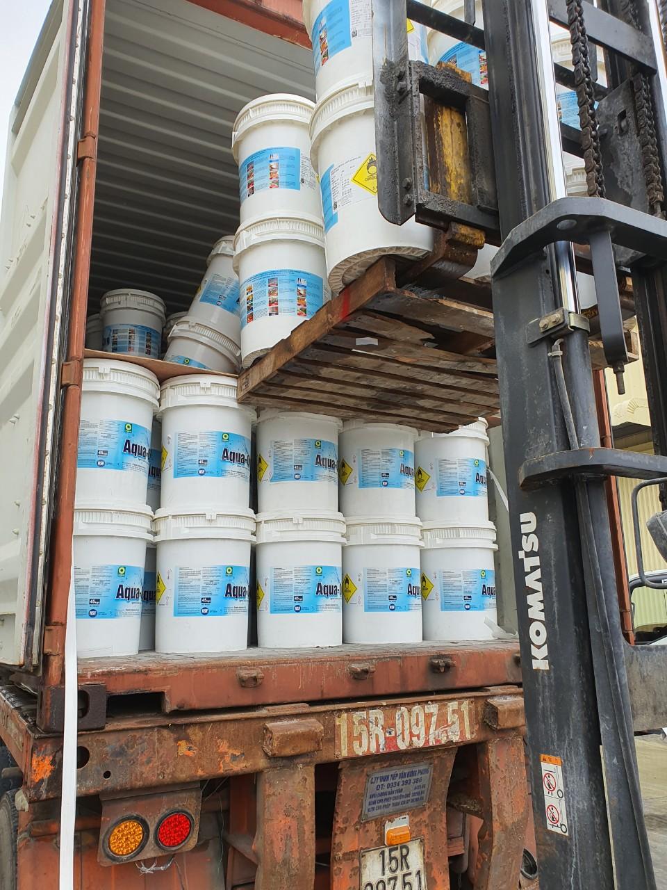 Clorin Ấn Độ Aqua Org thùng 45kg cont